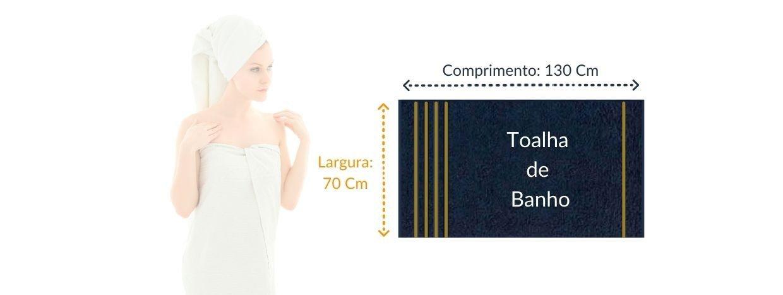 tabela de medida linha lisboa toalha de banho toalha show
